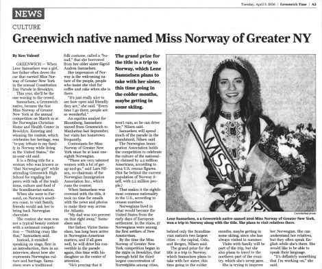 MN 2016 Greenwich Times article